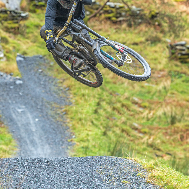 """Danny Hart, Mountain Bike Rider in ""Action"""" stock image"