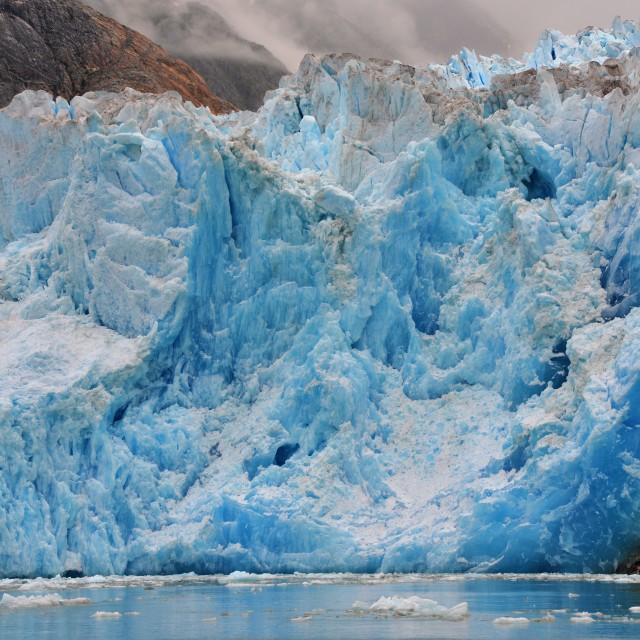 """South Sawyer Glacier Up Close"" stock image"