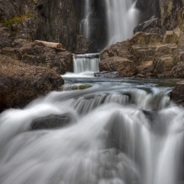 """Shadow Creek Falls"" stock image"
