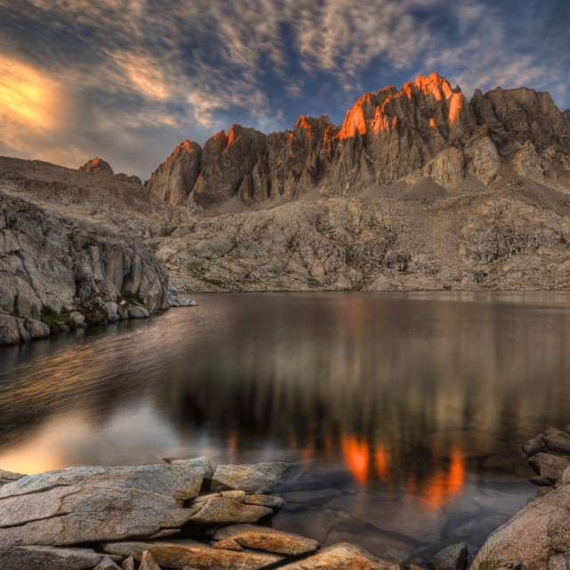 """Last Light on the Palisades"" stock image"