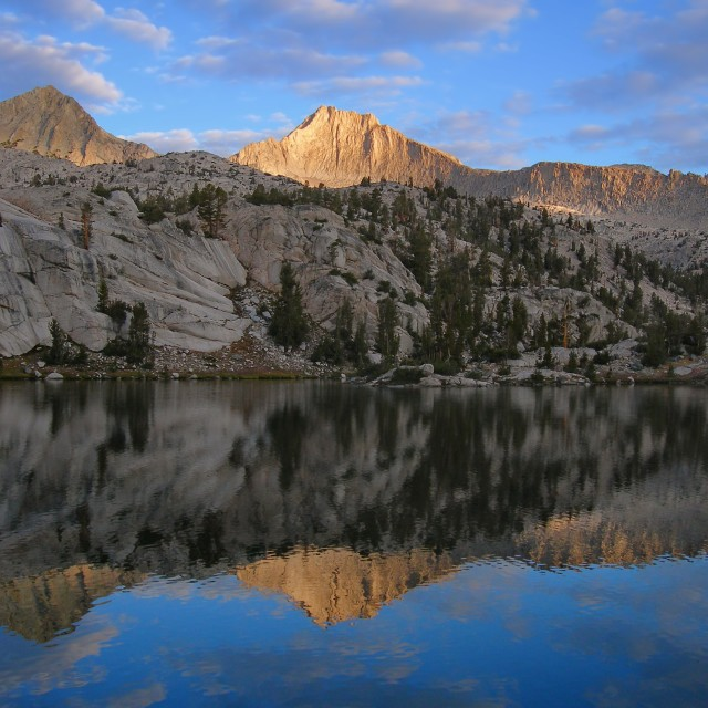 """Reflections in the Sixty Lake Basin"" stock image"