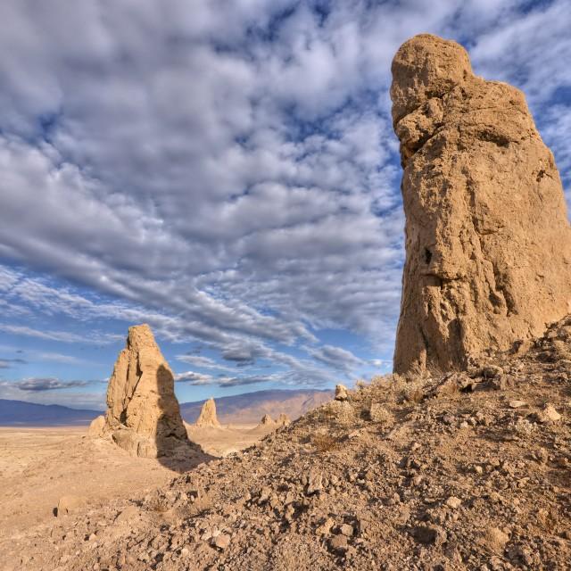 """Trona Pinnacles"" stock image"
