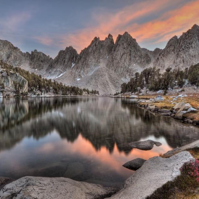 """Evening Kearsarge Pinnacles Reflections"" stock image"