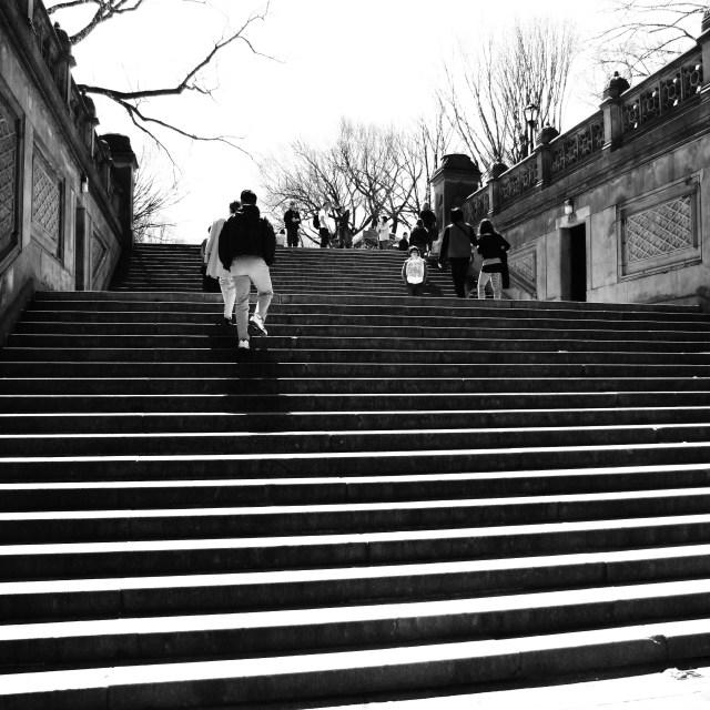 """""""Bethseda Terrace Stairs"""" stock image"""