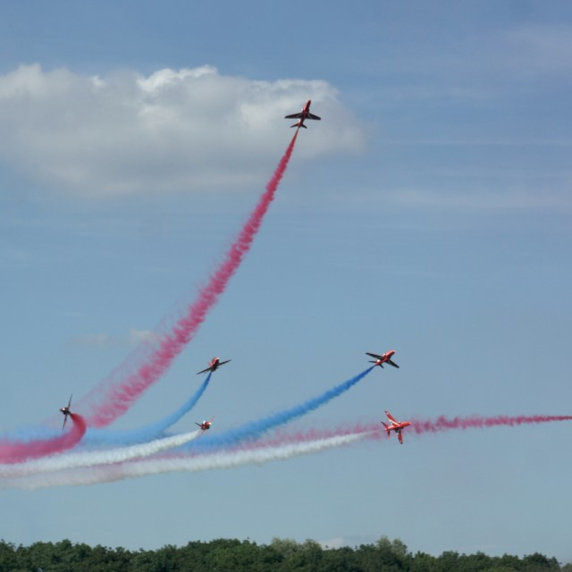 """Red Arrows arial display"" stock image"