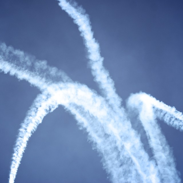 """Jet trails"" stock image"