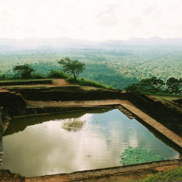 """Reservoir at Sigiriya, Sri Lanka"" stock image"