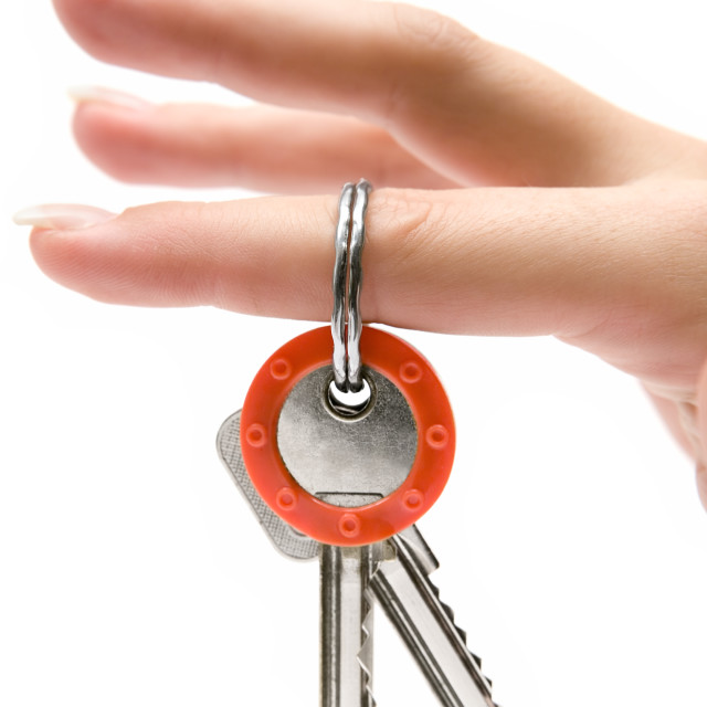 """""""Holding Keys"""" stock image"""