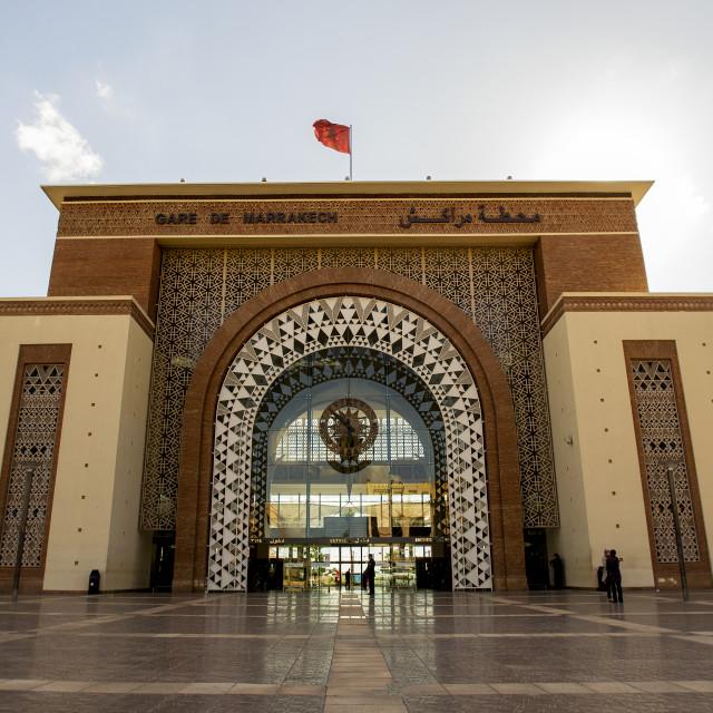 """Marrakech Railway Station"" stock image"