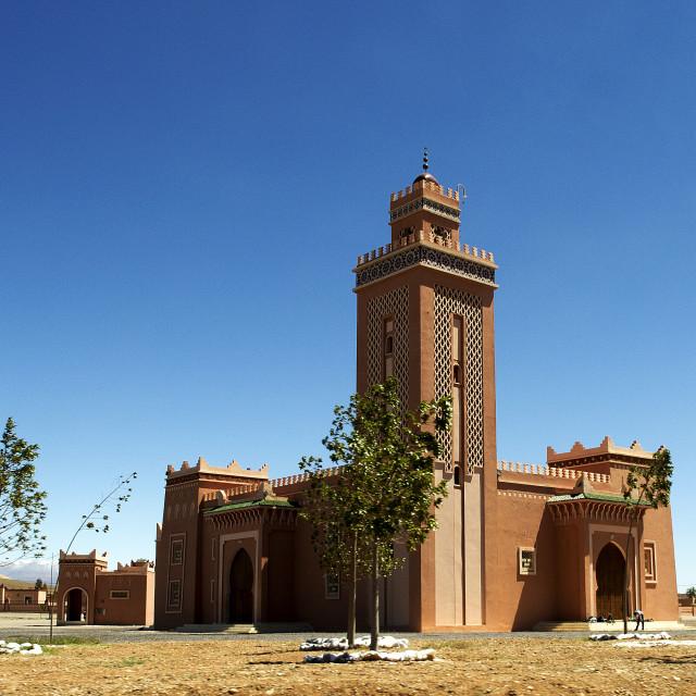 """Ksar of Ait-Ben-Haddou and Ouarzazate (Door to the Desert)"" stock image"