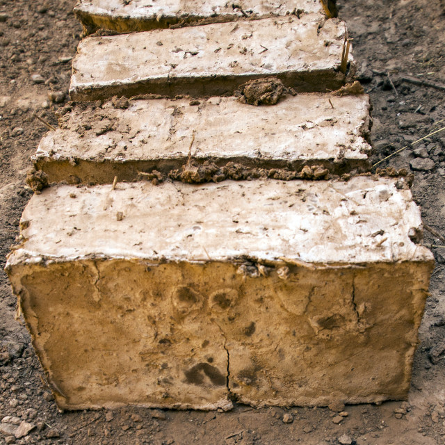 """Berber / Moroccan Bricks at Ksar Ait-Ben-Haddou"" stock image"