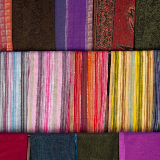 """""""Traditional Moroccan Cloths"""" stock image"""