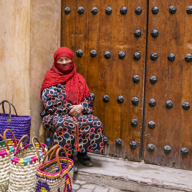 """Moroccan Bag Seller"" stock image"