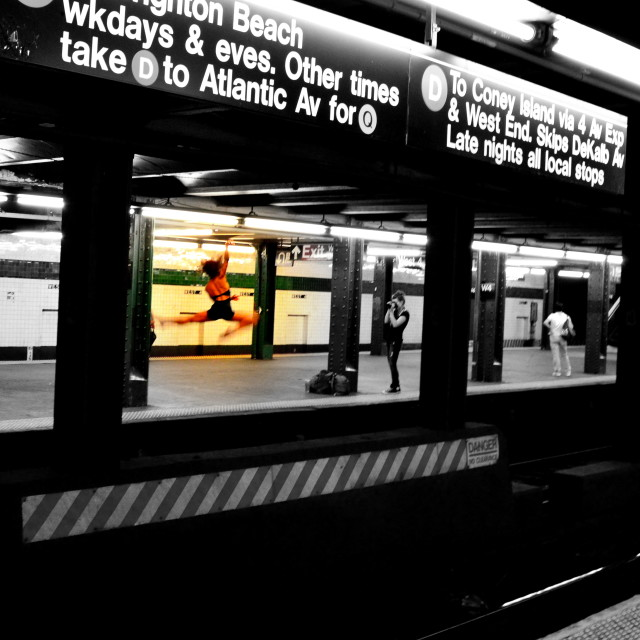 """Subway Ballet"" stock image"