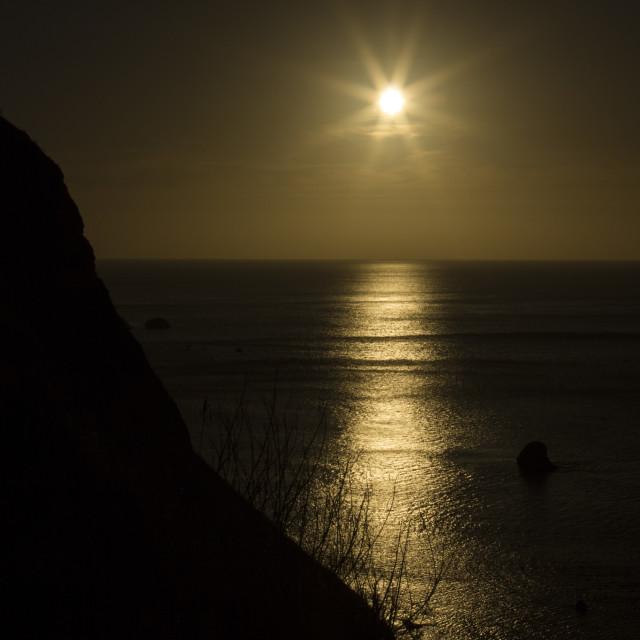 """Sun rising"" stock image"