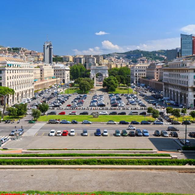 """""""Piazza della Vittoria - Genova"""" stock image"""