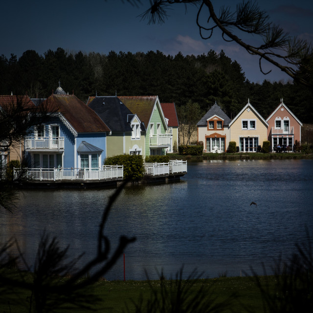 """Floating houses"" stock image"