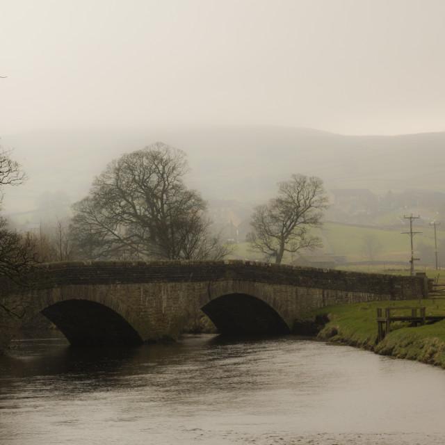 """Misty bridge"" stock image"