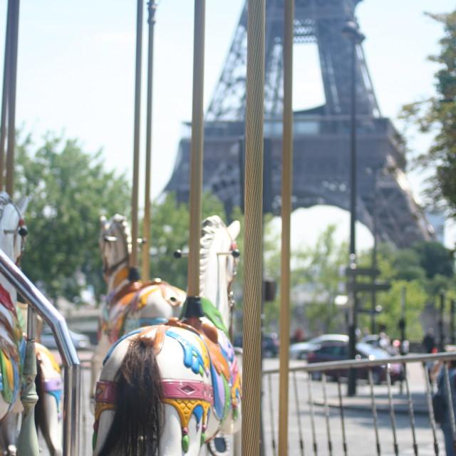 """""""Eiffel merry go round"""" stock image"""