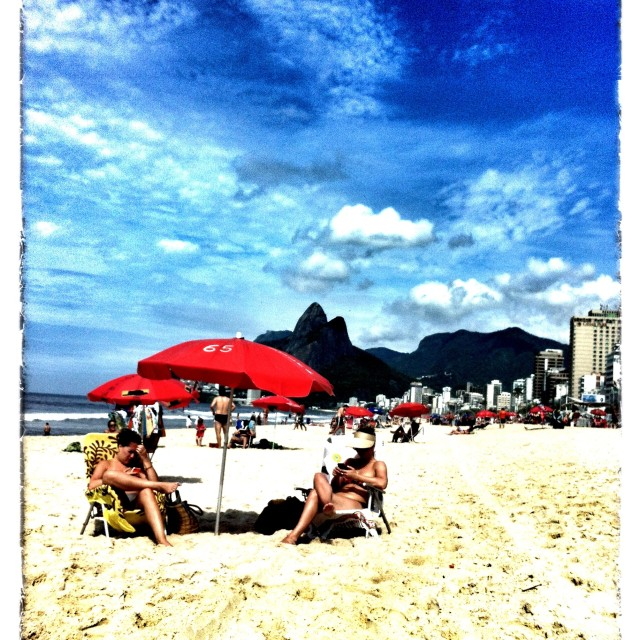 """Ipanema days"" stock image"