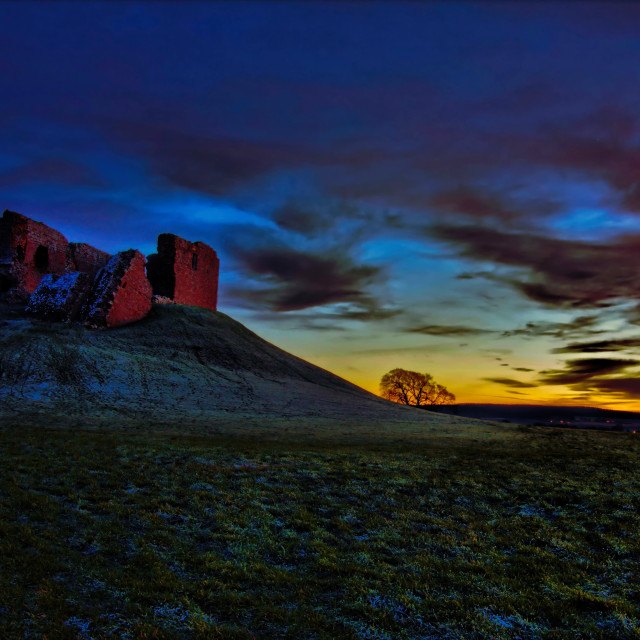 """Duffus Castle"" stock image"