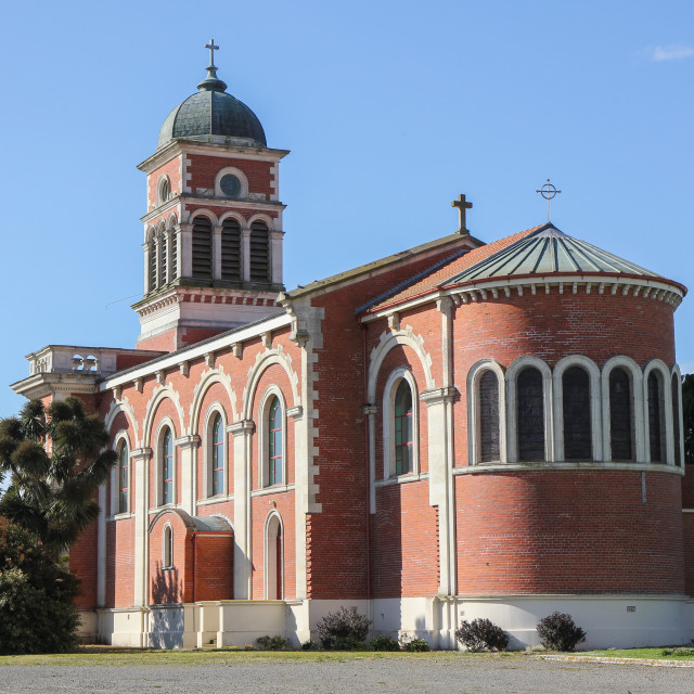 """""""Catholic Basilica, Waimate."""" stock image"""