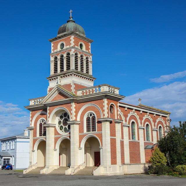 """St. Patrick's Basilica, Waimate"" stock image"