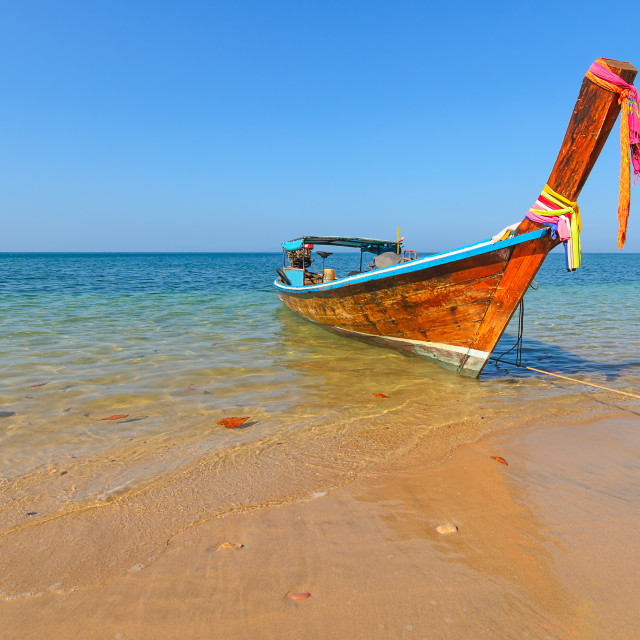 """Longtail Boat"" stock image"