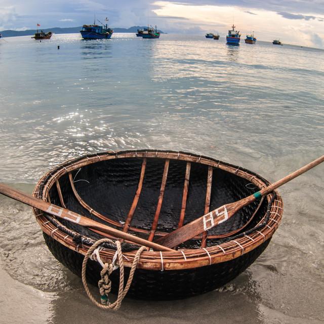 """Rattan boat"" stock image"