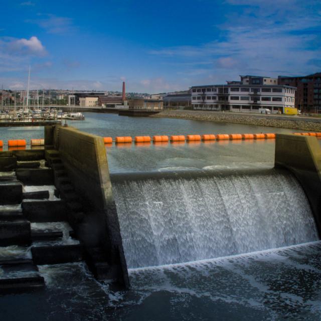 """Swansea Barrage"" stock image"