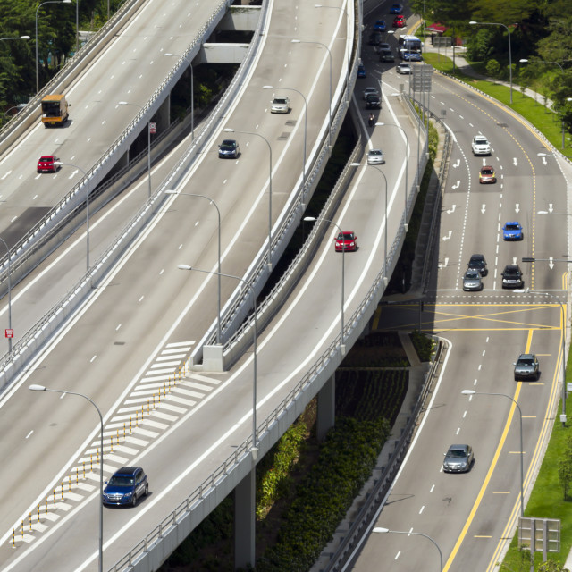 """""""Highway in Singapore city"""" stock image"""