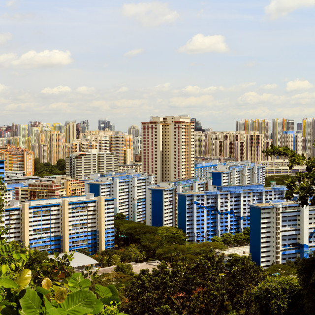 """View of Singapore"" stock image"