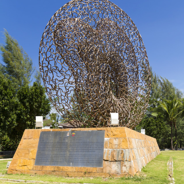 """Tsunami Memorial on Kamala Beach Phuket"" stock image"