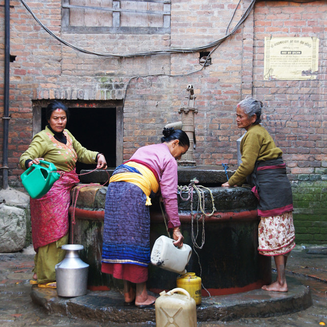 """Every day life in Nepal"" stock image"