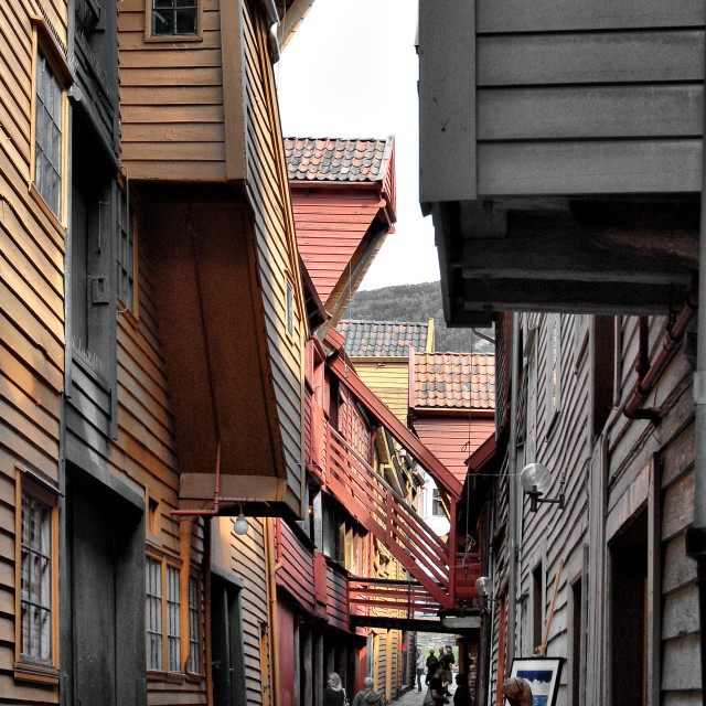 """""""Houses in Norway"""" stock image"""
