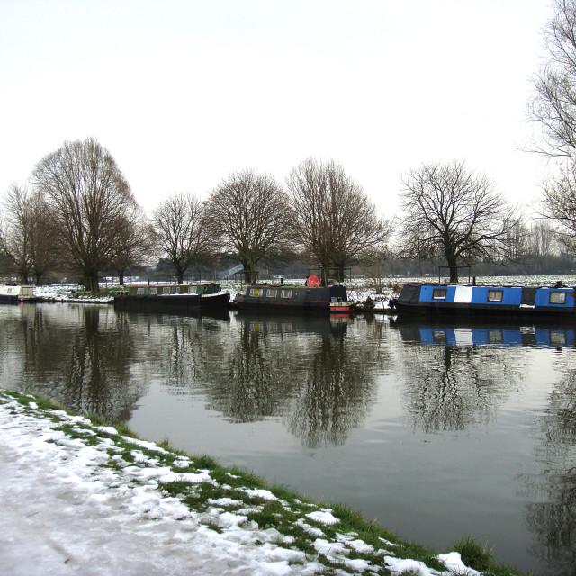 """Cambridge in winter"" stock image"