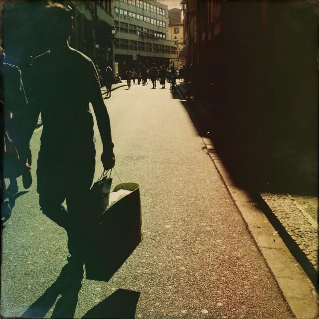"""Feeling like a yoyo, walking like a man"" stock image"