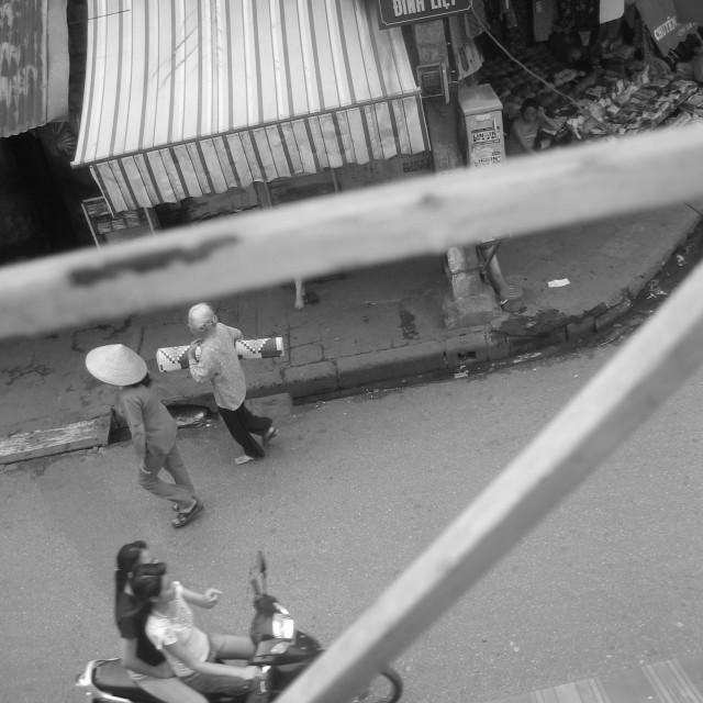 """""""Hanoi balcony"""" stock image"""