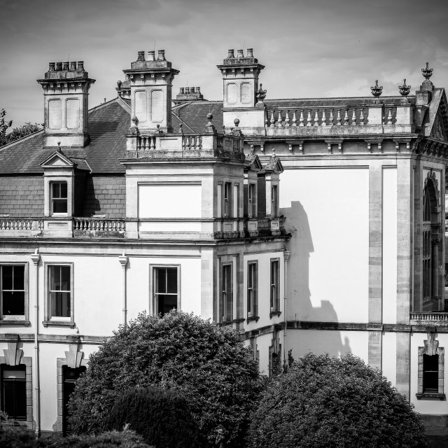 """""""Duffryn House, South Wales"""" stock image"""