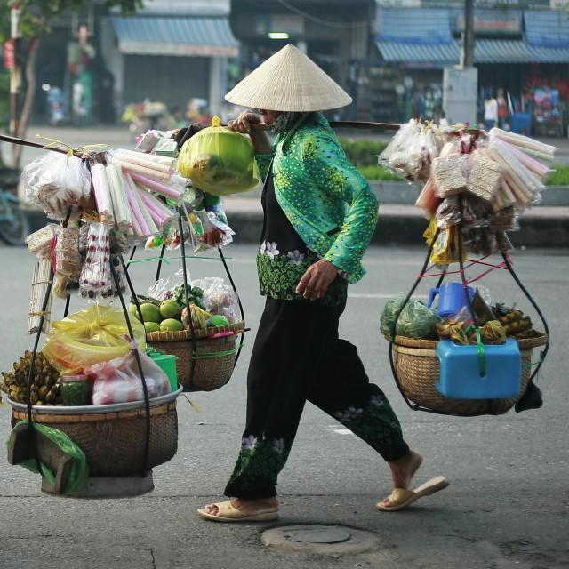 """Street vendor"" stock image"