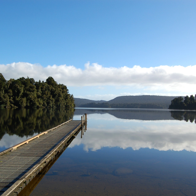 """Lake in New Zealand"" stock image"