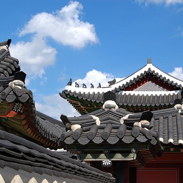 """Korean Architechture"" stock image"