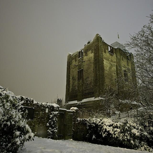 """Guildford Castle"" stock image"