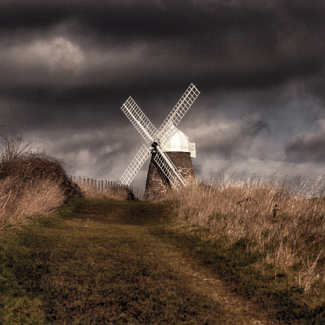 """Halnaker Windmill"" stock image"
