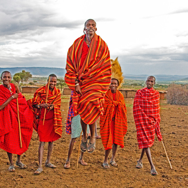"""Masai Tribal Dance"" stock image"