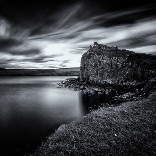 """Duntulm Castle"" stock image"