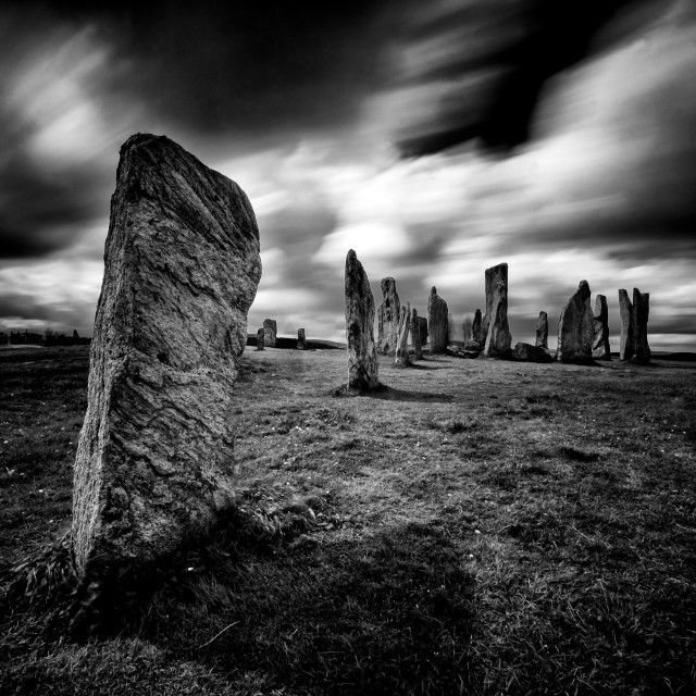 """Calanais Standing Stones"" stock image"
