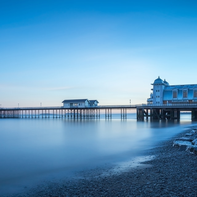 """""""The Victorian Pier at Penarth, Wales"""" stock image"""