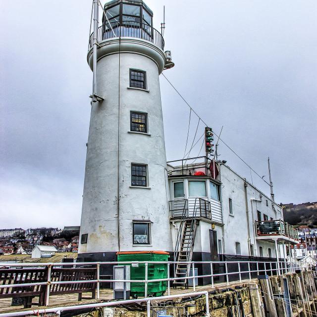 """Scarborough Lighthouse"" stock image"