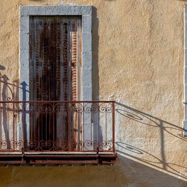 """""""Balcony Shadows"""" stock image"""